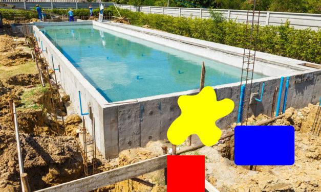 Formes de piscine en béton: un choix presque illimité